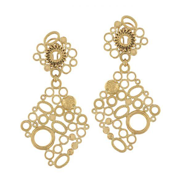 Earrings in yellow gold